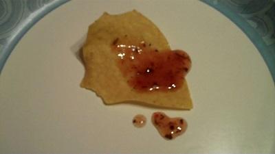 Cayenne Hot Drops On Pita Chip