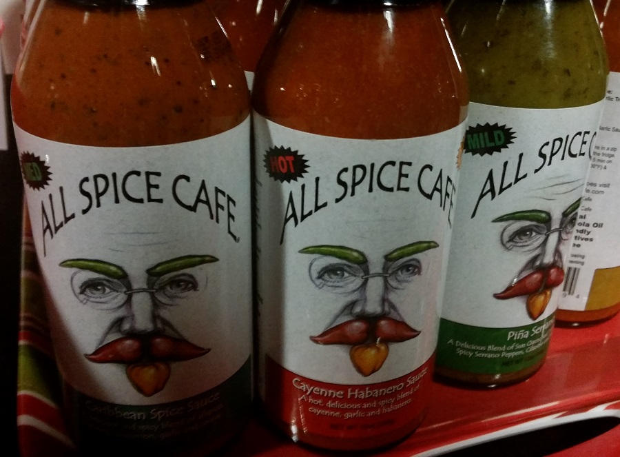 All Spice Cafe Hot Sauces