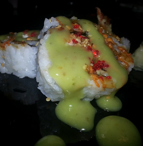Blair's Heat Wasabi Green Tea Exotic Hot Sauce on Sushi