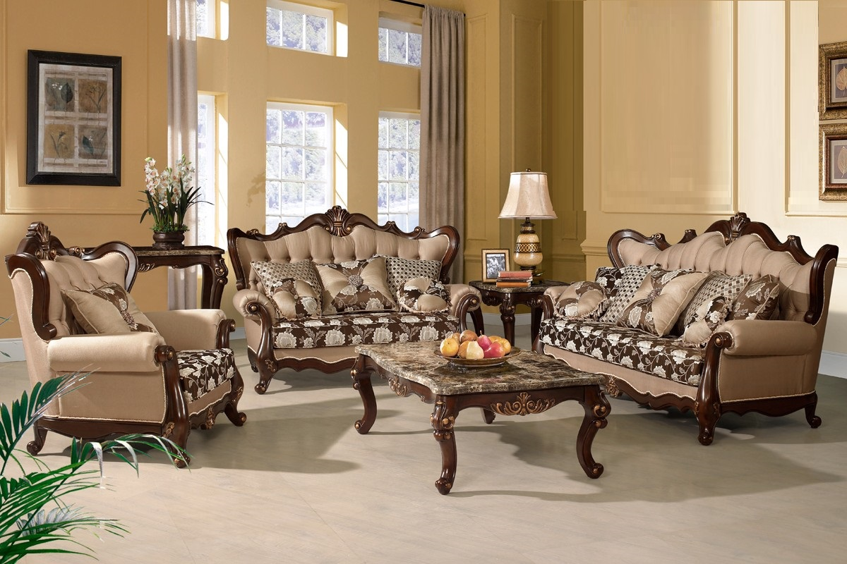 Traditional Sofa Love Seat Chair 3pc Set