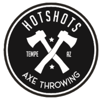 Hotshots Axe Throwing Logo