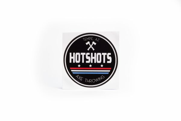Hotshots Axe Throwing Sticker