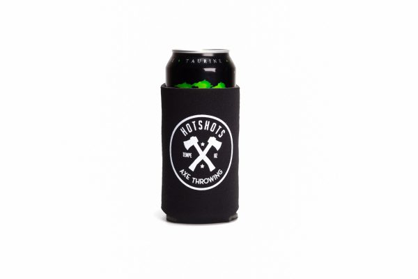 Black Hotshots Axe Throwing Koozie