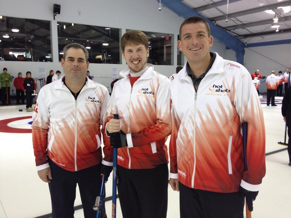 Campers 3 Men - Hot Shots Curling Camp