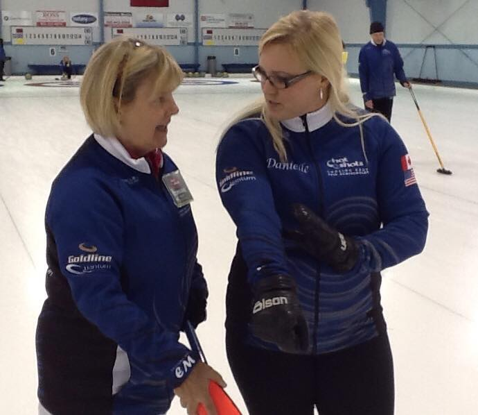 Danielle Inglis and Camper - Hot Shots Curling Camp