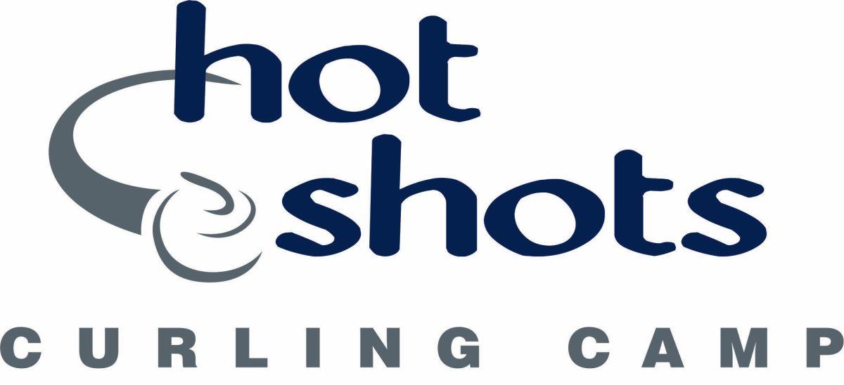 Hot Shots Curling Camp Logo - Horizontal