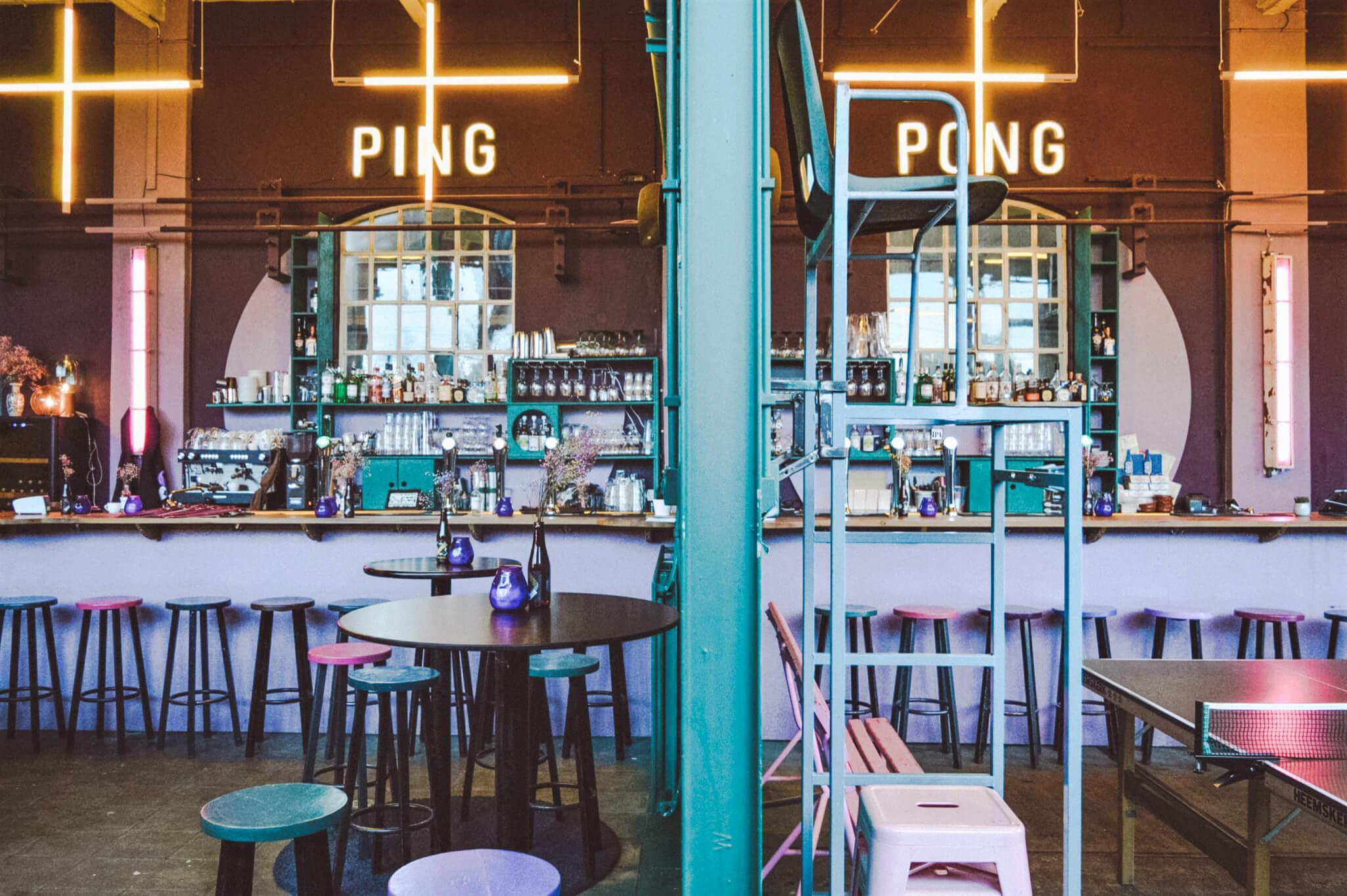 PING PONG CLUB UTRECHT: UTRECHTSTE BIERTJES & ARABISCHE MEZZE IN TREINLOODS