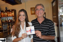 In this picture Sergio Hazan -Great Musician promoting his Newest CD with IVY
