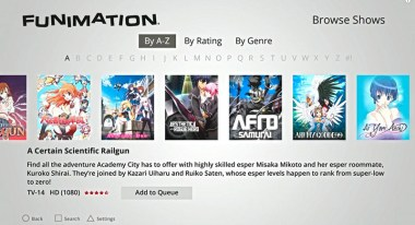 FUNimation PS4 App Screen Capture