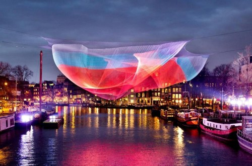 Amsterdam Light festival in Amsterdam Canals