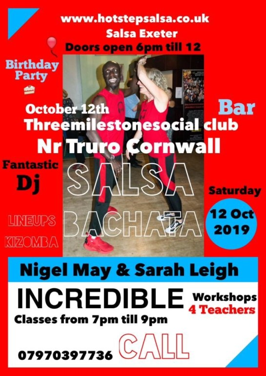 Salsa party cornwall threemilestone social club