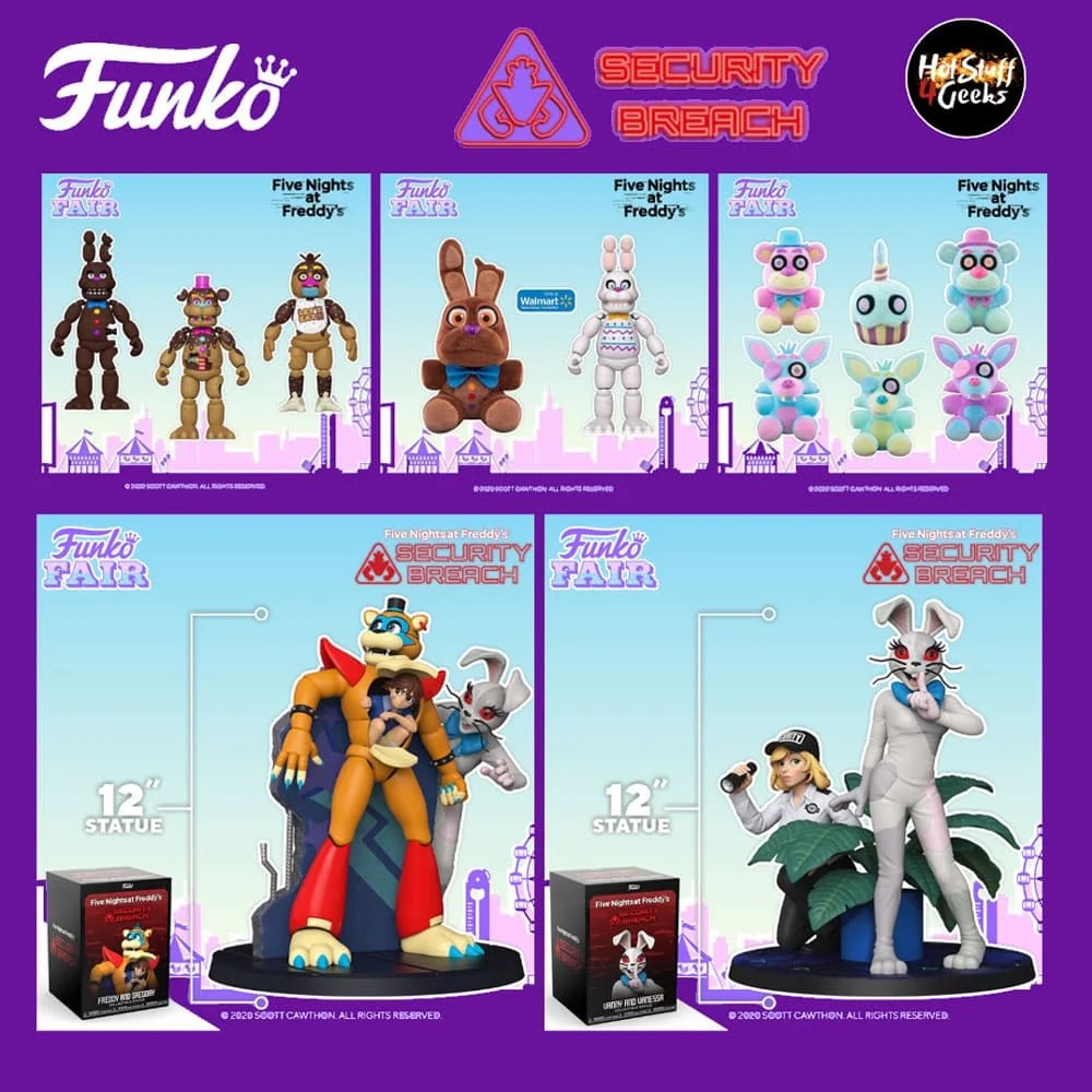 2021 New Funko Fnaf Action Figures Statues And Plush