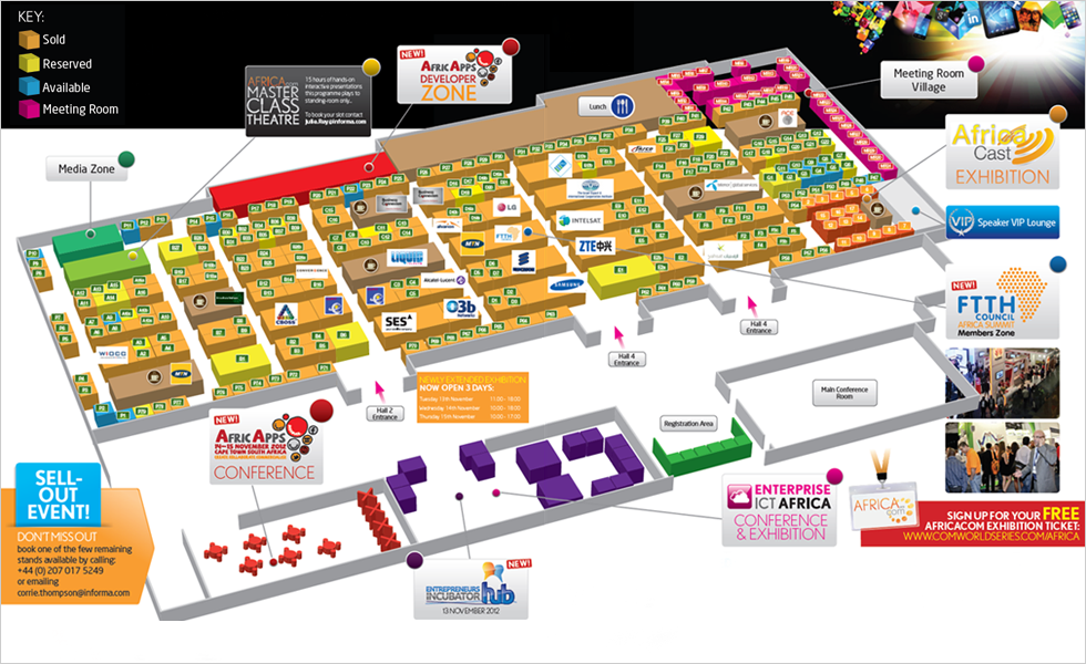 Africa Com 2012 Expo Floorplan
