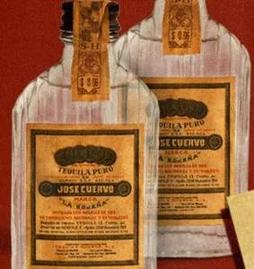 old cuervo bottle
