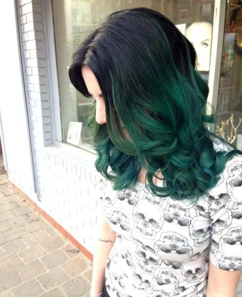 green-ombre-hair-color
