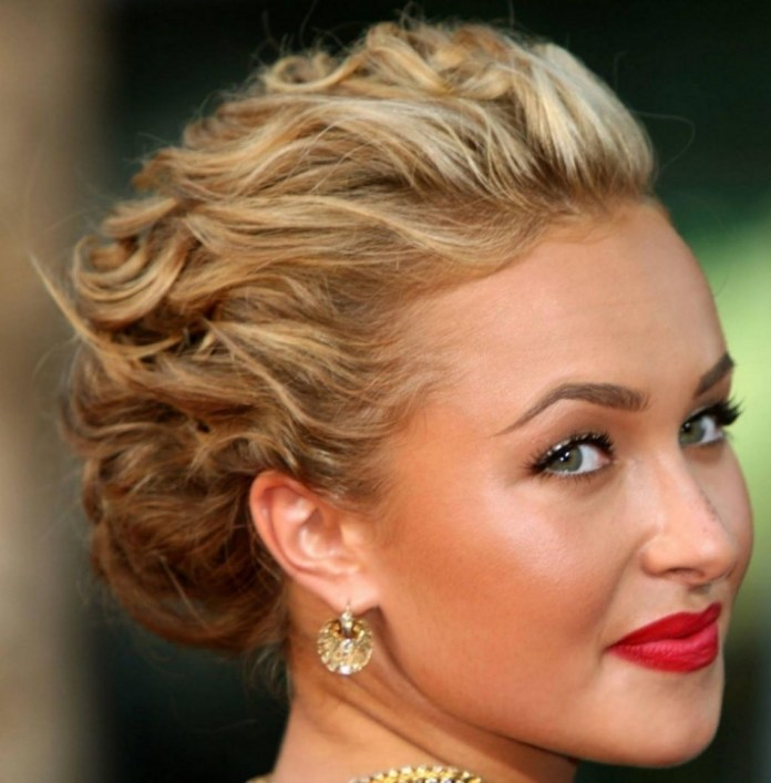 Short Curly Hair Updos