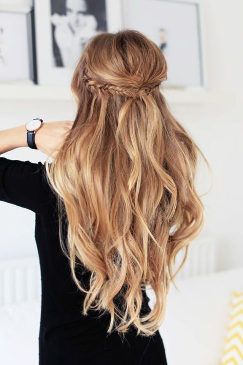 Half Up Half Down Long Braided Hairstyle