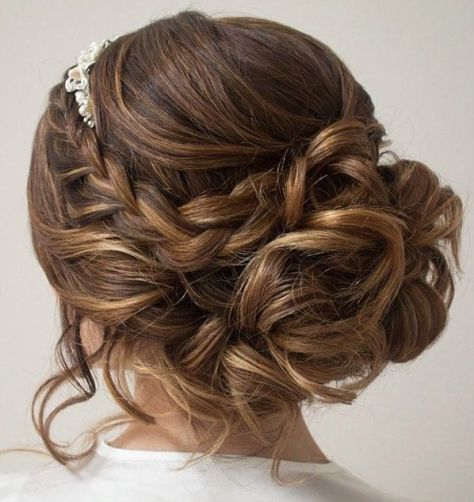 Braided Hairstyle with Curls