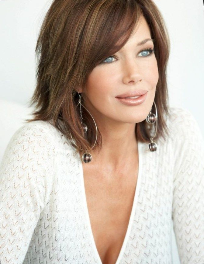 Medium Length Hairstyles With Layers and cool hair color