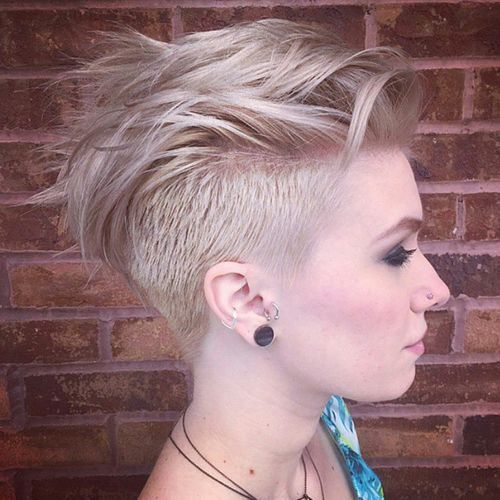 Short Undercut Hairstyle for Blond Hair
