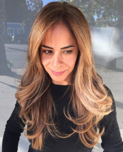 Long Layered Hairstyle with Large Waves