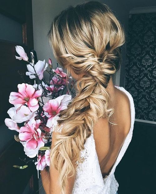 Loose Fishtail Braid Hairstyle
