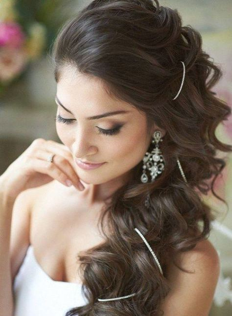 Side Down do Wedding Hairstyle