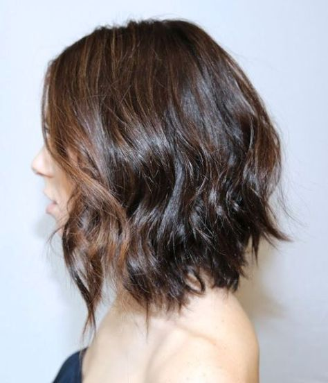 A-line Bob with Loose Messy Waves