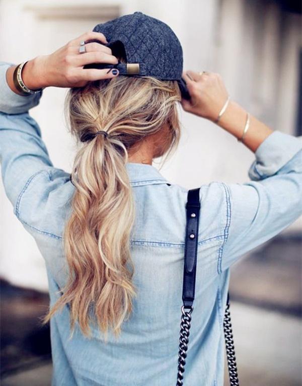 Messy Curls Low Ponytail
