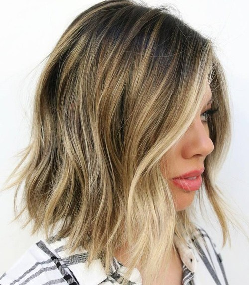 Shaggy Wavy Long A-Line Bob