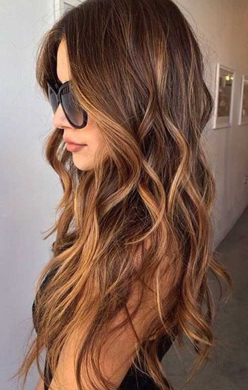 Middle Parted Brushed Waves