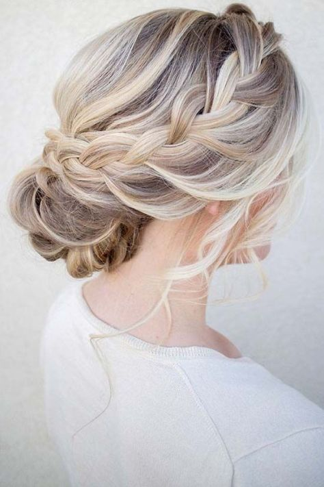 Messy Updo with Twisted Braid
