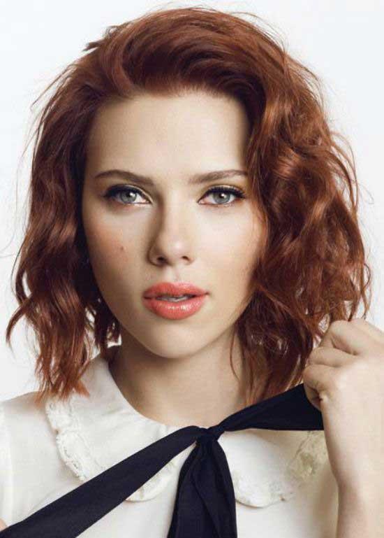 Scarlett Johansson Red Bob