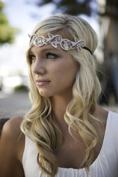 Beach Wedding Hairstyle With Headband