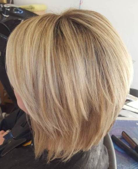 Blonde Chopped Bob