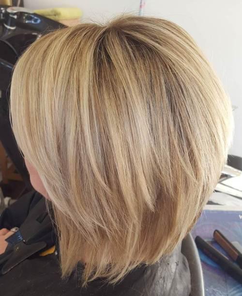 Blonde Chopped Bob