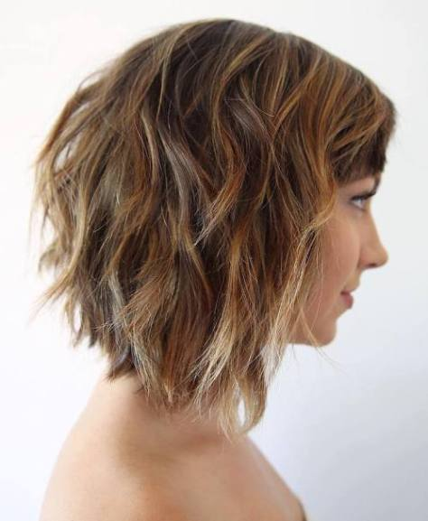 Collarbone Lob with Bangs
