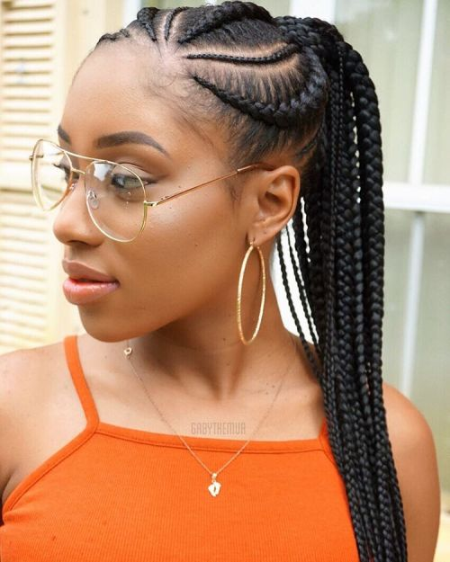 Cornrows with Ponytail