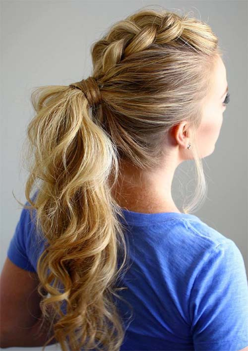 Dutch Braided Mohawk Ponytail