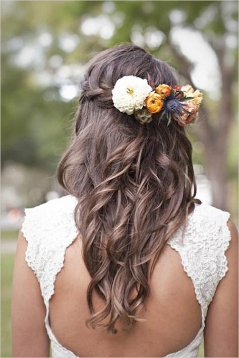 Half Up Flower Crown