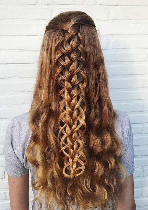 Half Up Loop Braids