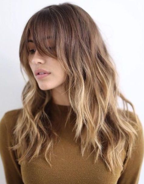Ombre Long Bangs