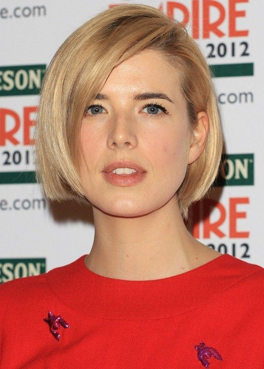 Short Bob with Side Swept Bangs