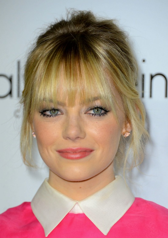 Updo with Front Bangs