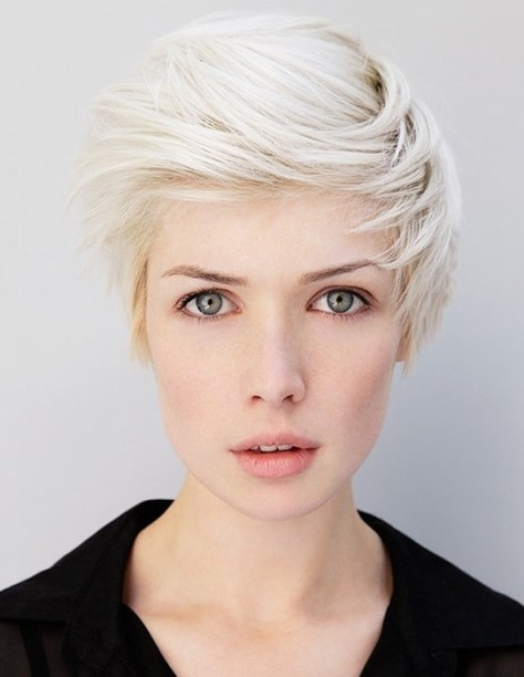 Feathered Blonde Pixie Bangs