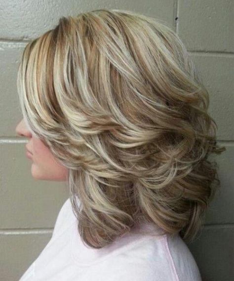 Layered Mid Length Hair