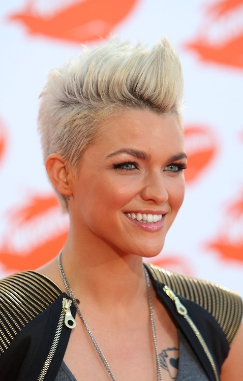 Edgy Spiked Short Blond Hairstyle