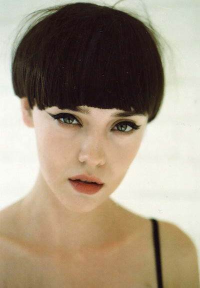 Bowl Cut with Blunt Bangs