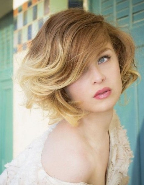 Blonde Short Haircut For Fall