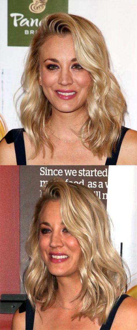 Medium Wavy Blonde Hair